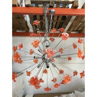 Murano Glass Triedo Sputnik Flower Chandelier Preview