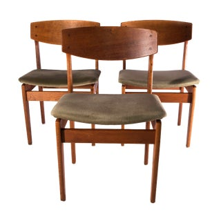 1960s Scandinavian Modern Børge Mogensen Chairs - Set of 3 For Sale