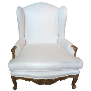 19th Century French Regence Gilt Wood Marquise Chair For Sale