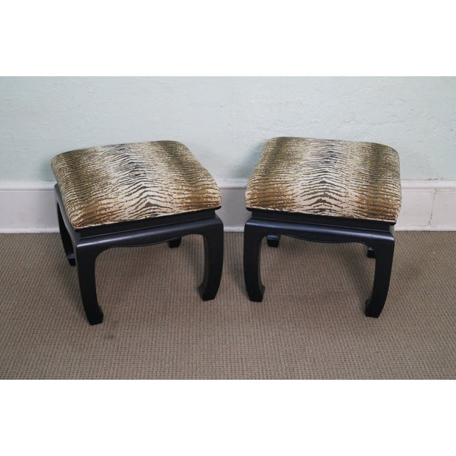 Ebonized Asian Influenced Ottoman/Benches - A Pair - Image 10 of 10