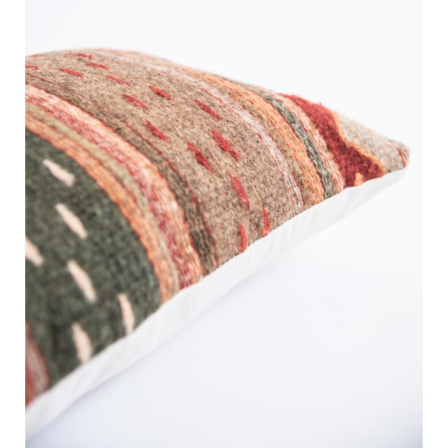 Red Wool Oaxacan Pillow - Image 2 of 5