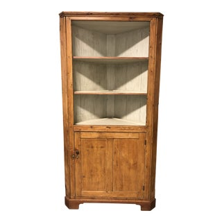Swedish Style Corner Baltic Pine Cabinet For Sale