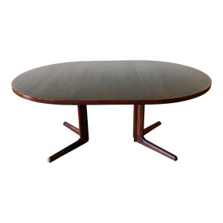 Gudme Mobelfabric Danish MCM Rosewood Dining Table With 2 Leaves For Sale