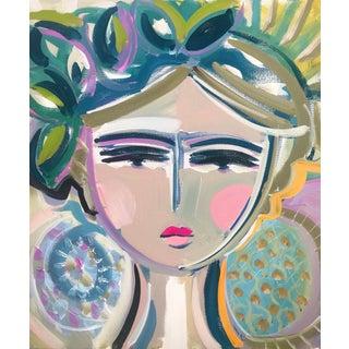 """Original Portrait Painting by Maren Devine """"Leah"""" For Sale"""
