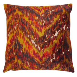 """Piper Collection Multi-Colour Velvet """"Sherry"""" Pillow For Sale"""