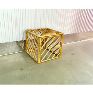 Albini Style Rattan Cube Side Table Coffee Table Preview