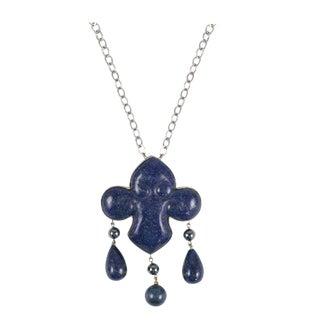 Les Bernard Lapis Lazuli Pendant Necklace For Sale