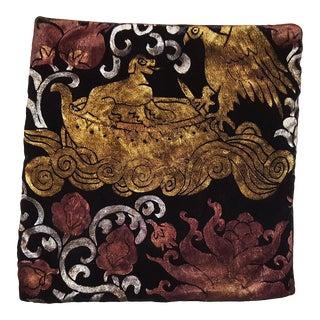Sicilia XIII Silk Velvet Pillow Cover For Sale