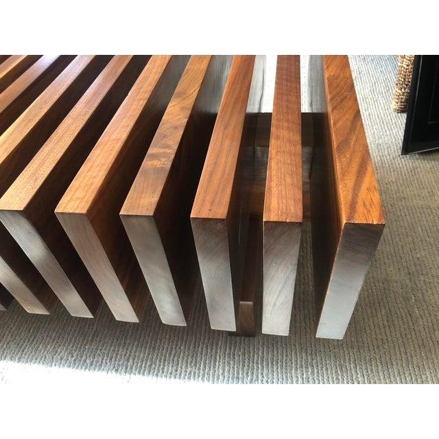 Solid Walnut Modernist Coffee Table For Sale In Los Angeles - Image 6 of 7