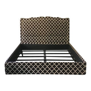 Low Profile King Size Upholstered Bed