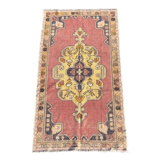 "Vintage Turkish Anatolian Area Rug - 4'6"" X 8'6"""