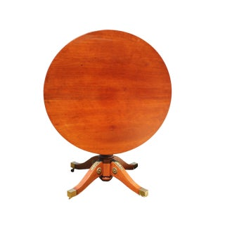 French Empire Style Maple Tilt Top Table With Ormolu