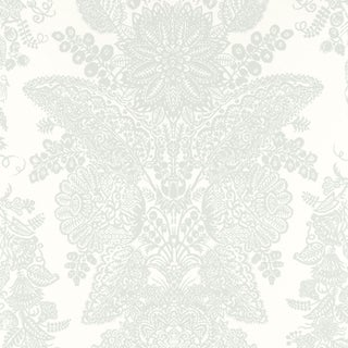 Sample - Schumacher Lace Wallpaper in Cirrus For Sale
