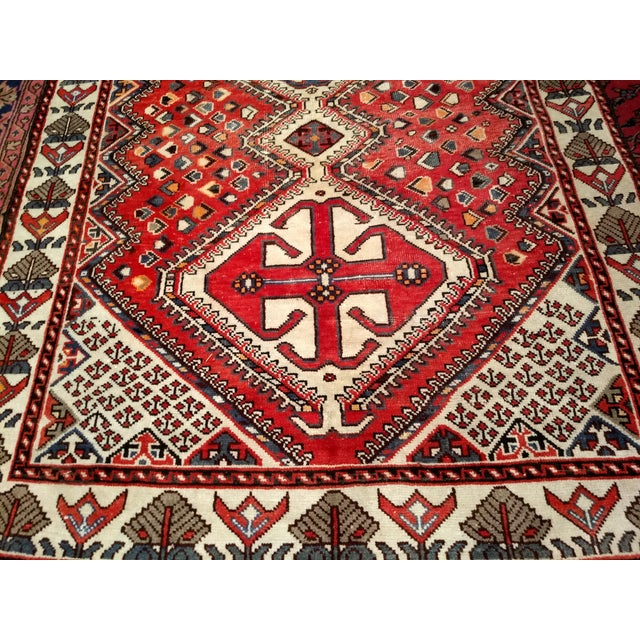 1960s 1960s Vintage Persian Shiraz Tribal Carpet - 5′ × 9′8″ For Sale - Image 5 of 10