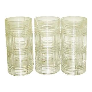 9bdf729bf58d Ralph Lauren Glen Plaid Crystal Highball Glasses - Set of 4 | Chairish