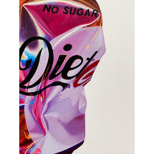 """""""Diet Coke"""" is a coloured pencil drawing by Jack Verhaeg. This series of giclée prints is a limited edition of 50 which,..."""