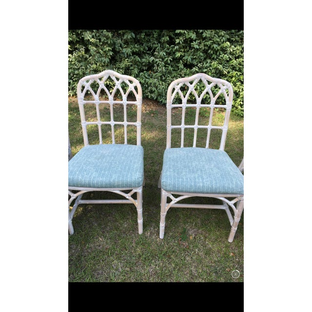 Blue McGuire Bamboo Chinese Chippendale Chairs - Set of 6 For Sale - Image 8 of 13