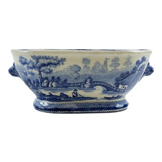 Antique Blue & White Transferware Sauce Bowl For Sale