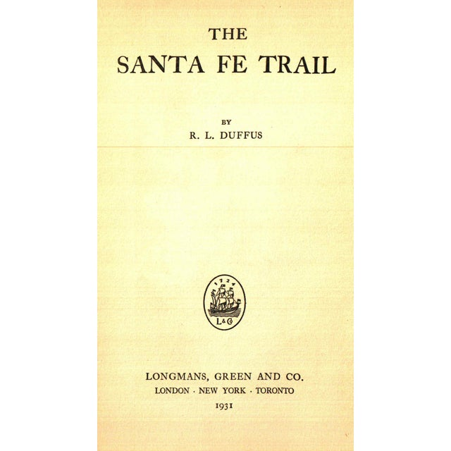 """Booth & Williams 1931 """"The Santa Fe Trail"""" Collectible Book For Sale - Image 4 of 6"""