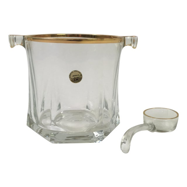 Vintage Mano Crystal Ice Bucket With Ice Scoop - Image 1 of 6