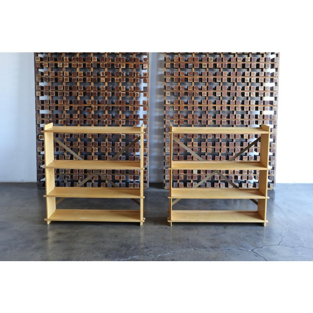 Pair of st Plywood Bookcases Circa 1975 - a Pair For Sale - Image 11 of 13