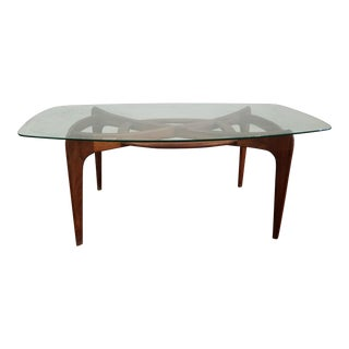 "Adrian Pearsall Mid Century Sculptural Elongated ""Compass"" Dining Table"