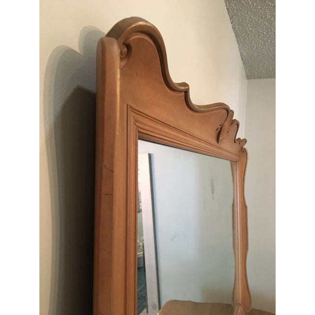 Metal Louis XV French Provincial Serpentine Dresser and Mirror by Dixon Powdermaker Orleans Collection For Sale - Image 7 of 9