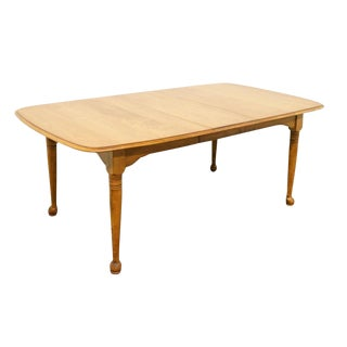 Late 20th Century Vintage Cushman Colonial Maple Dining Table For Sale