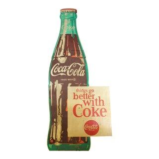 1950s Vintage Wood Coca Cola Sign For Sale