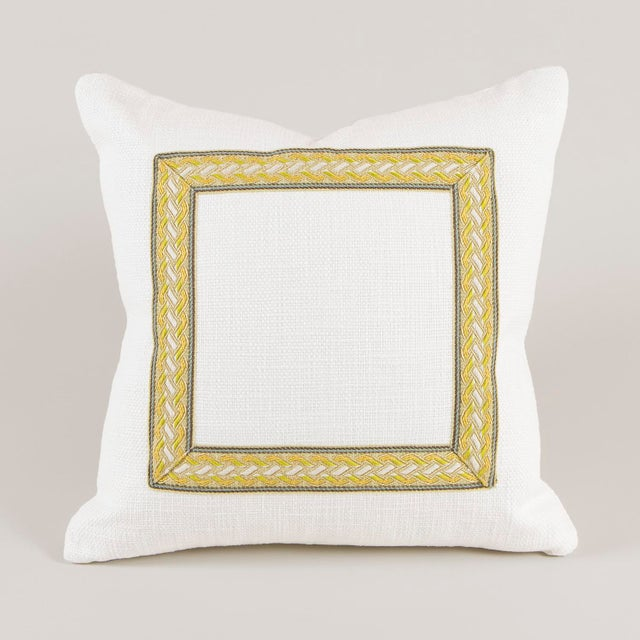 Neoclassical White and Citrine Pilow For Sale - Image 3 of 5