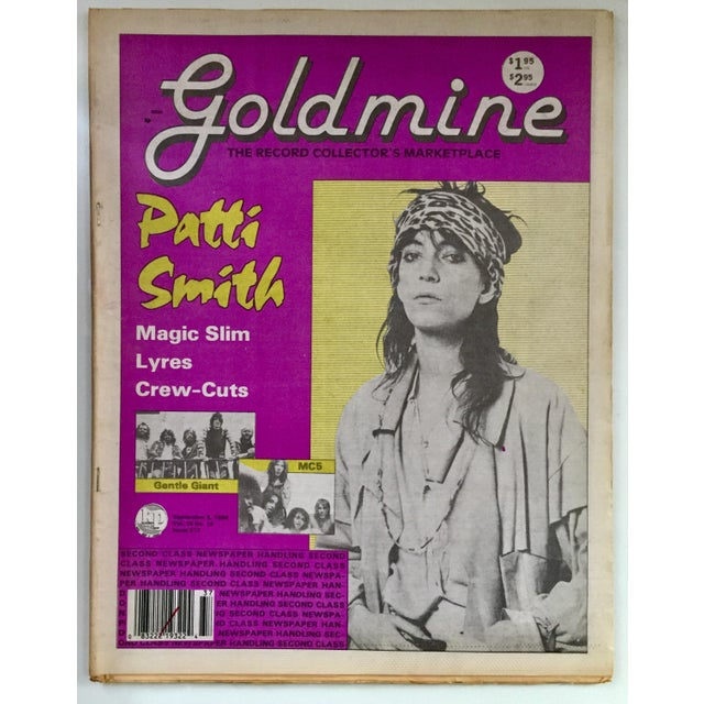 """Vintage 1988 """"Gold Mine"""" magazine (complete edition approx 50pgs) featuring a frame-able Patti Smith cover that makes for..."""