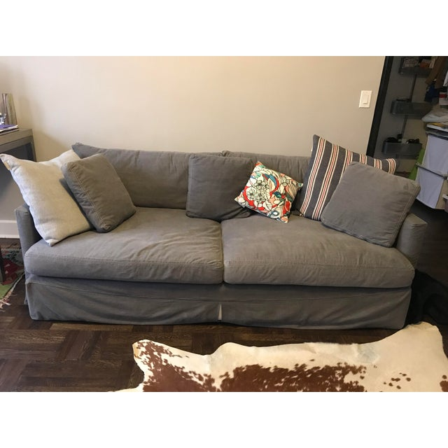 Crate & Barrel Lounge Sofa with Washable Slipcovers