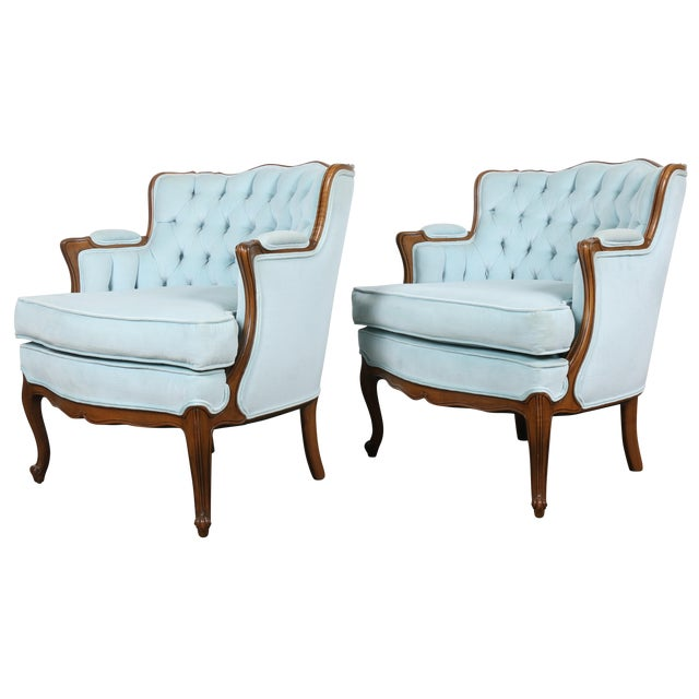Italian-Style Chairs in Baby Blue - A Pair - Image 1 of 11