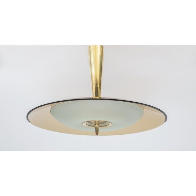 Max Ingrand (1908-1969) for Fontana Arte A stunning modernist chandelier by lighting pioneer Max Ingrand for Fontana Arte,...