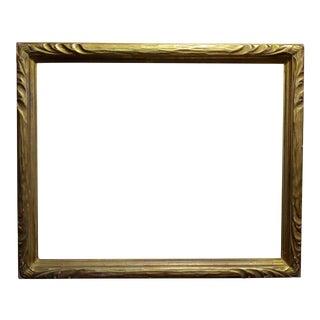 """Art Nouveau 24x30"""" Gilt Wood Frame -C1900s For Sale"""