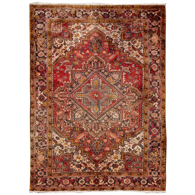 """Vintage Persian Rug, 6'5"""" X 8'9"""" For Sale - Image 9 of 9"""