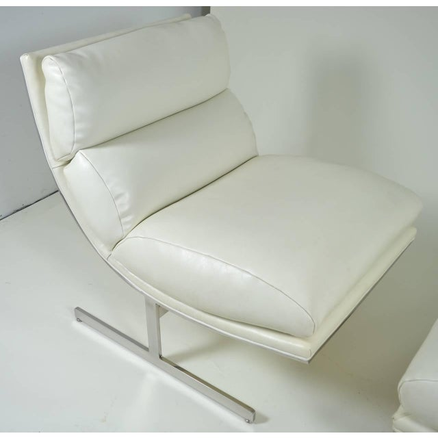 Modern Lounge Chair and Ottoman by Kipp Stewart for Directional, circa 1970 - Image 7 of 10