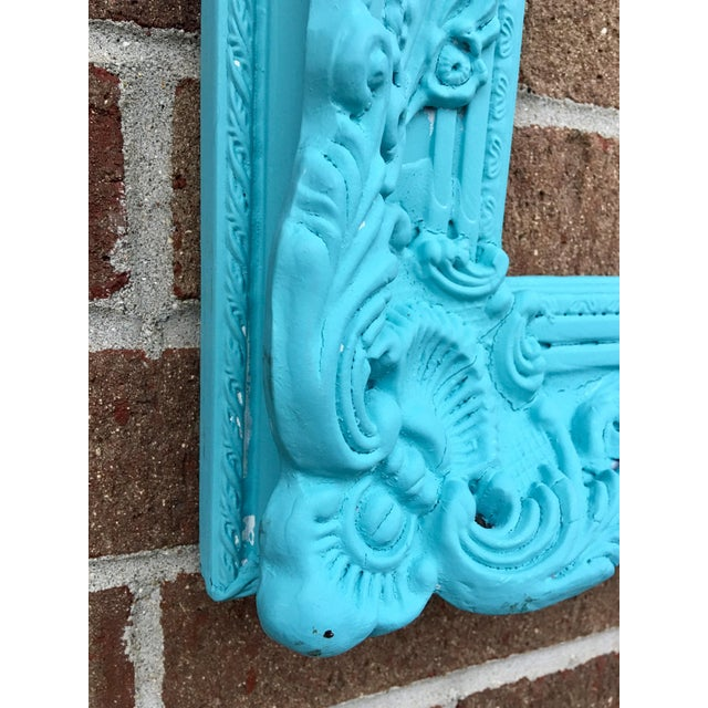 Antique Tiffany Blue Plaster Picture Frame - Image 4 of 10