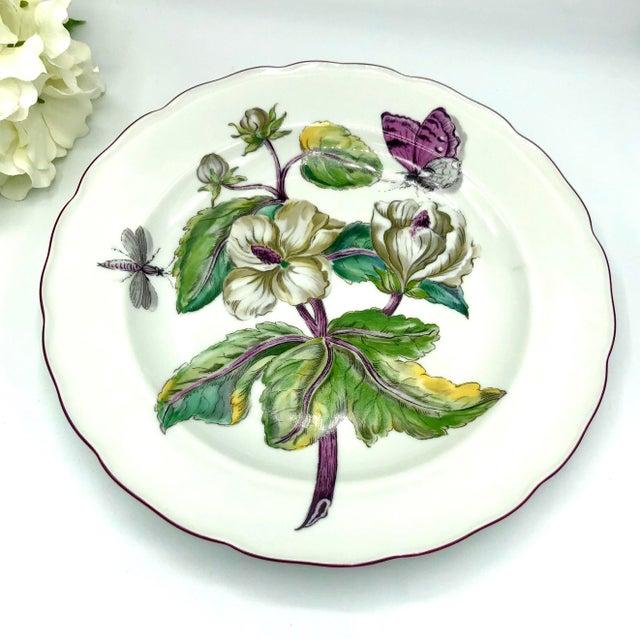 Ceramic Mottahedeh Chelsea Botanical Vista Alegre Dinner Plates - Set of 4 For Sale - Image 7 of 12