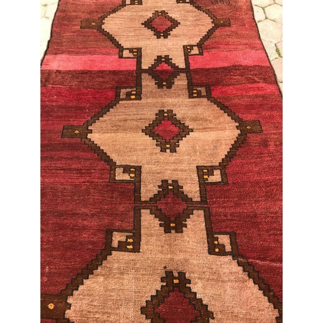 1980s Handmade Turkish Rug - 4′5″ × 12′4″ For Sale In San Francisco - Image 6 of 7