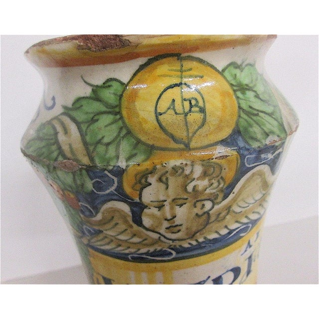 16th C. Italian Majolica Albarello Pharmacy Jar - Image 3 of 11