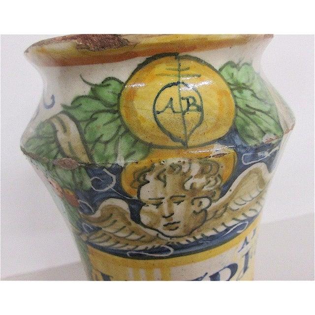 Italian 16th C. Italian Majolica Albarello Pharmacy Jar For Sale - Image 3 of 11
