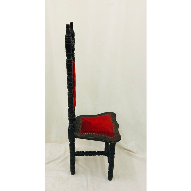 Textile Antique Wooden Chair For Sale - Image 7 of 13