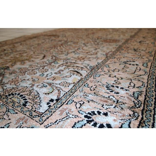 Vintage Silk Indian Indo-Tabriz Rug - 3′2″ × 5′3″ For Sale - Image 9 of 10