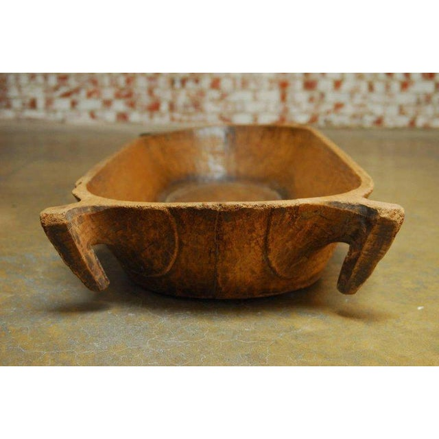 18th Century Large French Carved Wood Dough Bowl or Trough For Sale In San Francisco - Image 6 of 8