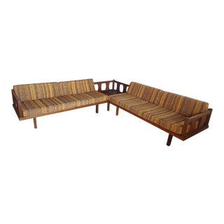 Vintage Mid-Century Modern Walnut Sectional Daybed For Sale