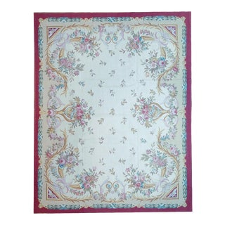 "Pasargad Aubusson Hand-Woven Wool Rug- 10'11"" X 15'11"" For Sale"