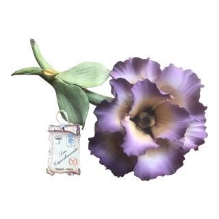 Capodimonte Italian Porcelain Flower For Sale