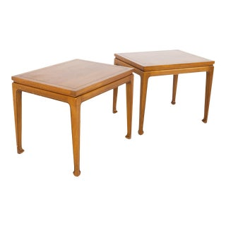 Lane Rhythm Style Fine Arts Furniture Company Mid Century Walnut Side End Tables - a Pair For Sale