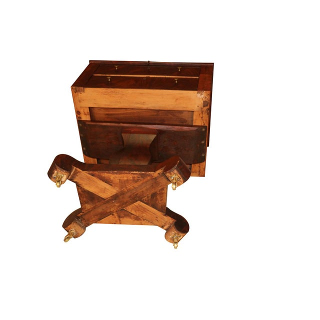 Brown American Empire Style Side Table For Sale - Image 8 of 11